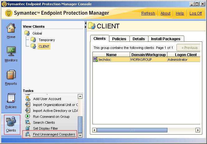 Endpoint protection manager not updating clients