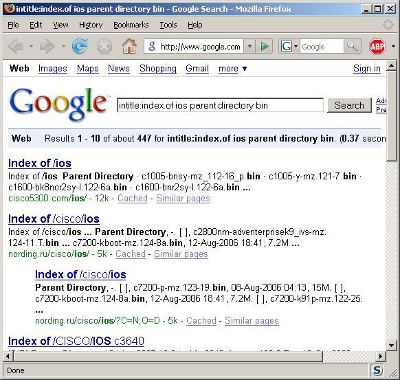 Google hack for free Cisco IOS | AZIZ's BLOG